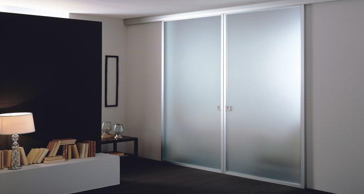 Porta in alluminio e vetro